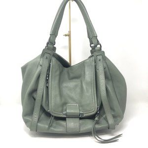 Kooba Jonnie Leather Shopper Tote Green Purse